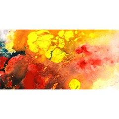 Fire, Lava Rock You Are Invited 3d Greeting Card (8x4)  by timelessartoncanvas
