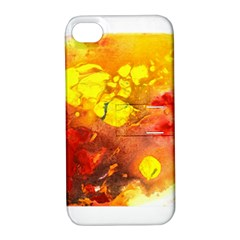 Fire, Lava Rock Apple Iphone 4/4s Hardshell Case With Stand