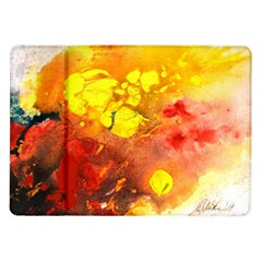 Fire, Lava Rock Samsung Galaxy Tab 10 1  P7500 Flip Case