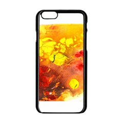Fire, Lava Rock Apple Iphone 6 Black Enamel Case