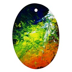 Abstract Landscape Ornament (oval)