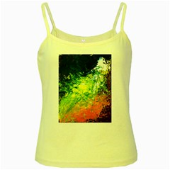 Abstract Landscape Yellow Spaghetti Tanks