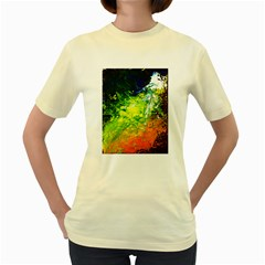 Abstract Landscape Women s Yellow T Shirt