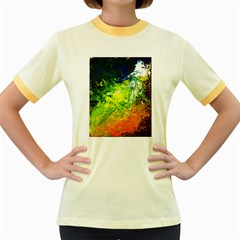 Abstract Landscape Women s Fitted Ringer T-shirts
