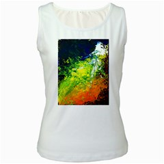 Abstract Landscape Women s Tank Tops