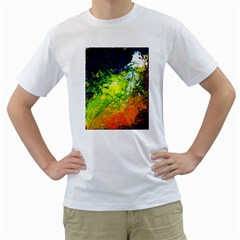 Abstract Landscape Men s T Shirt (white) (two Sided)