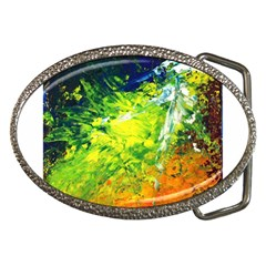 Abstract Landscape Belt Buckles