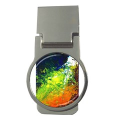 Abstract Landscape Money Clips (round)