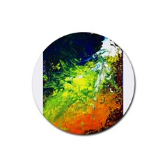 Abstract Landscape Rubber Round Coaster (4 Pack)