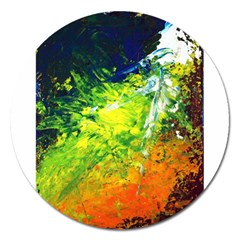 Abstract Landscape Magnet 5  (round) by timelessartoncanvas