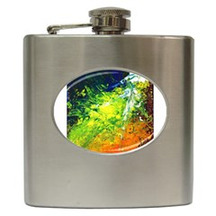 Abstract Landscape Hip Flask (6 Oz) by timelessartoncanvas