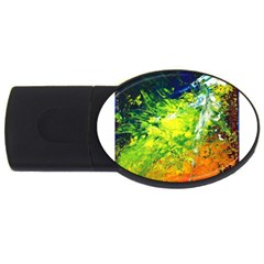 Abstract Landscape Usb Flash Drive Oval (2 Gb)