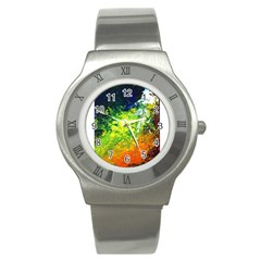 Abstract Landscape Stainless Steel Watches