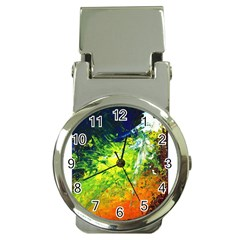 Abstract Landscape Money Clip Watches