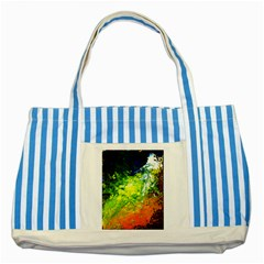 Abstract Landscape Striped Blue Tote Bag