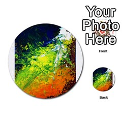 Abstract Landscape Multi Purpose Cards (round)  by timelessartoncanvas