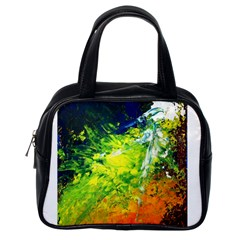 Abstract Landscape Classic Handbags (one Side)