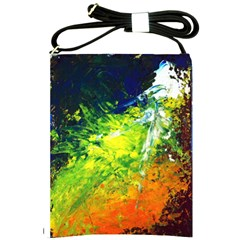 Abstract Landscape Shoulder Sling Bags