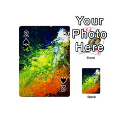 Abstract Landscape Playing Cards 54 (mini)  by timelessartoncanvas