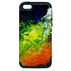 Abstract Landscape Apple Iphone 5 Hardshell Case (pc+silicone)