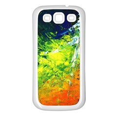 Abstract Landscape Samsung Galaxy S3 Back Case (white)