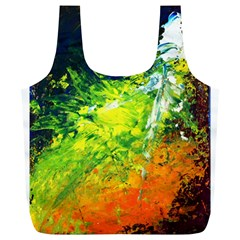 Abstract Landscape Full Print Recycle Bags (l)