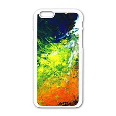 Abstract Landscape Apple Iphone 6 White Enamel Case