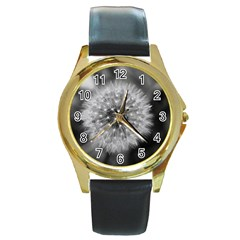 Modern Daffodil Seed Bloom Round Gold Metal Watches by timelessartoncanvas