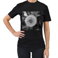 Modern Daffodil Seed Bloom Women s T Shirt (black) by timelessartoncanvas