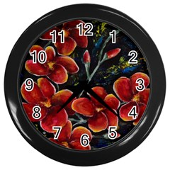 Hawaii Is Calling Wall Clocks (black) by timelessartoncanvas