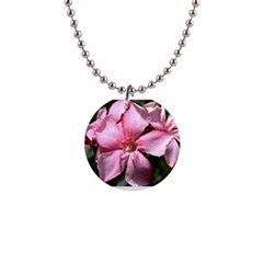 Pink Oleander Button Necklaces