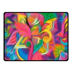 Colorful Floral Abstract Painting Fleece Blanket (small) by KirstenStar