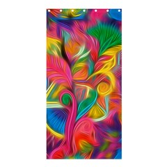 Colorful Floral Abstract Painting Shower Curtain 36  X 72  (stall) by KirstenStar