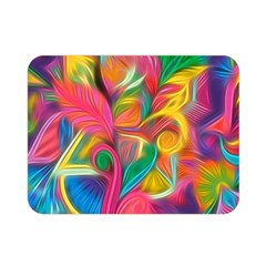 Colorful Floral Abstract Painting Double Sided Flano Blanket (mini) by KirstenStar