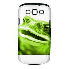 Green Frog Samsung Galaxy S Iii Classic Hardshell Case (pc+silicone) by timelessartoncanvas