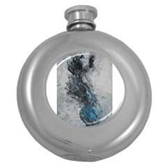 Ghostly Fog Round Hip Flask (5 Oz) by timelessartoncanvas