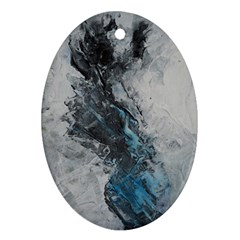 Ghostly Fog Oval Ornament (two Sides)