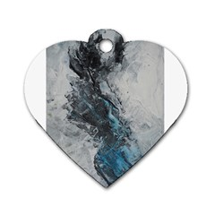 Ghostly Fog Dog Tag Heart (one Side) by timelessartoncanvas