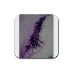 The Power Of Purple Rubber Coaster (square)