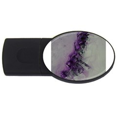 The Power Of Purple Usb Flash Drive Oval (4 Gb)  by timelessartoncanvas