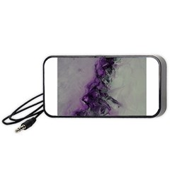 The Power Of Purple Portable Speaker (black)  by timelessartoncanvas