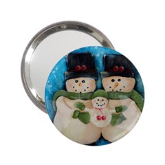 Snowman Family 2 25  Handbag Mirrors
