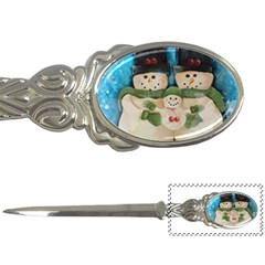 Snowman Family Letter Openers by timelessartoncanvas