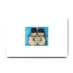 Snowman Family Small Doormat  by timelessartoncanvas