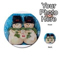 Snowman Family Multi Purpose Cards (round)