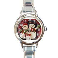 Snowman Family No. 2 Round Italian Charm Watches