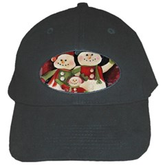 Snowman Family No. 2 Black Cap