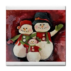 Snowman Family No. 2 Tile Coasters