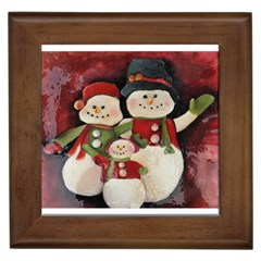Snowman Family No. 2 Framed Tiles
