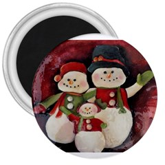 Snowman Family No. 2 3  Magnets